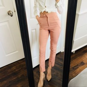 NEW Missguided High Waisted Blush Trouser Pants| 6